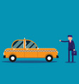 businessman calling taxi concept business taxi vector image vector image