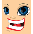Cartoon face vector image vector image