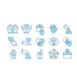 charity icon set collection donate trust vector image