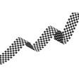 checkered racing flag ribbon on vector image vector image
