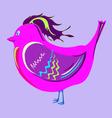 cheerful crimson bird vector image vector image