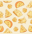cheese doodle pattern vector image