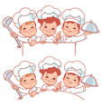 children as little chefs banner vector image