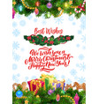 christmas ornaments new year wish decorations vector image vector image