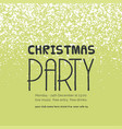christmas party snow background vector image vector image