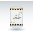 Cute card with gold confetti glitter vector image vector image