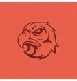 Eagle head logo emblem template vector image