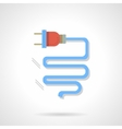Electrical component flat color design icon vector image