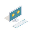 exchange dollars for bitcoins online vector image