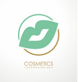 fashion or makeup products logo design vector image vector image
