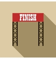 Finish line icon in flat style vector image vector image