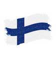 flag of finland grunge abstract brush stroke vector image