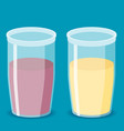 flat juice icon set vector image
