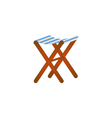 Folding wooden chair in retro design vector image vector image