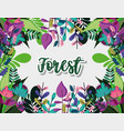 forest cute frame vector image