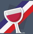 france culture card with wine cup vector image