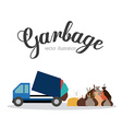 Garbage design vector image