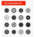 Gear Icon Set Isolated gears vector image