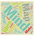 Get It Out Of Your Head And Into a Mind Map text vector image vector image