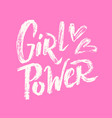 girl power lettering 02 vector image