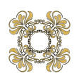 golden ornate decor heraldry floral image vector image