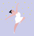 happy plus size dancing girl body positive vector image