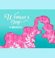 happy women s day holiday 8 march girl head vector image vector image