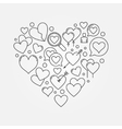 Heart shape or love sign vector image