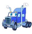 heavy semi truck vector image vector image