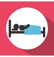 human silhouette sleeping icon vector image vector image