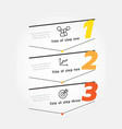 infographic label design template with icons 3 vector image