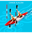 Kayak Slalom Double 2016 Summer Games Isometric 3D vector image vector image