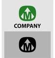 Letter M emblem symbol Creative corporate concept vector image
