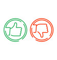 like and dislike icon vector image vector image