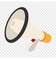 Loudspeaker cartoon icon vector image vector image