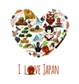 Love Japan Poster vector image vector image
