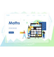 maths website landing page design template vector image vector image