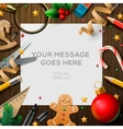 merry christmas wish list letter for santa claus vector image