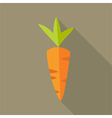 Organic carrot vector image