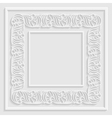 ornamental paper frame vector image vector image