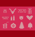 pink christmas ugly sweater vector image vector image