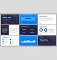 presentation template design vector image vector image