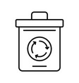 recycling pot icon outline style vector image