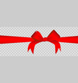 red ribbon on transparent background vector image