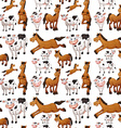 Seamless cow and horse vector image vector image