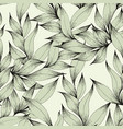 seamless pattern with branches and leaves hand vector image vector image