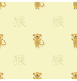 Seamless pattern with Chinese Zodiac Monkey Sign vector image