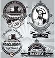 set emblems on subject baking with the vector image