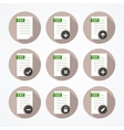 Set of icons for text files vector image
