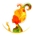 silhouette head autumn vector image vector image
